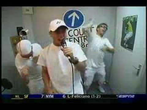"Lleyton Hewitt Karaoke to ""Eye of the Tiger"""