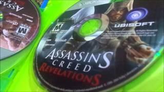 unboxing do jogo assassins creed ezio trilogy pt-br