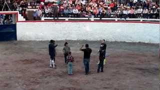 Concurso de niños en Jaripeo de la Fiesta de Huascato 2013