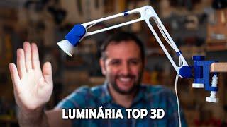 Como fazer uma super luminária articulada maker
