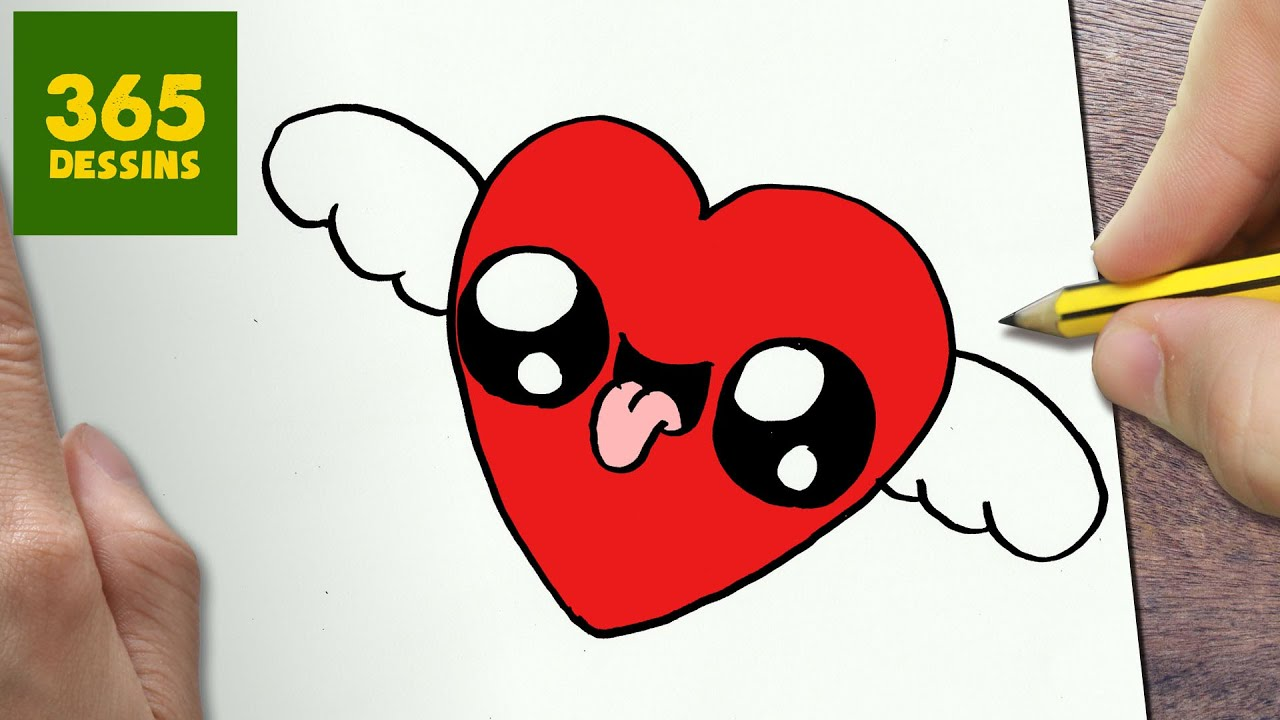 Comment Dessiner Coeur Avec Des Ailes Kawaii Etape Par Etape Dessins Kawaii Facile Youtube