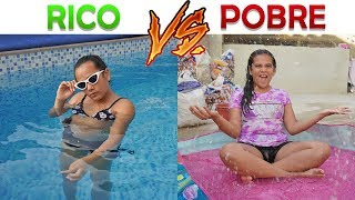 RICO VS POBRE NA PISCINA! - JULIANA BALTAR