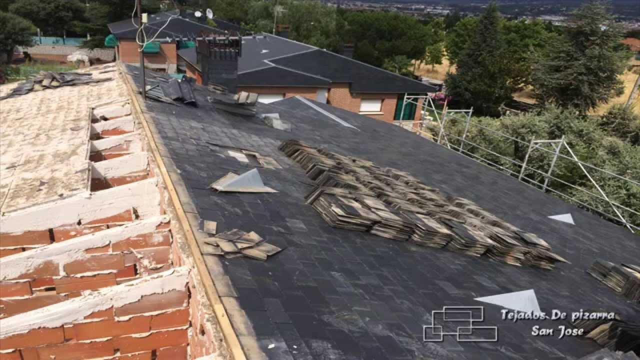 Reforma de tejado de pizarra desde tabiques palomeros - Tejado de pizarra ...