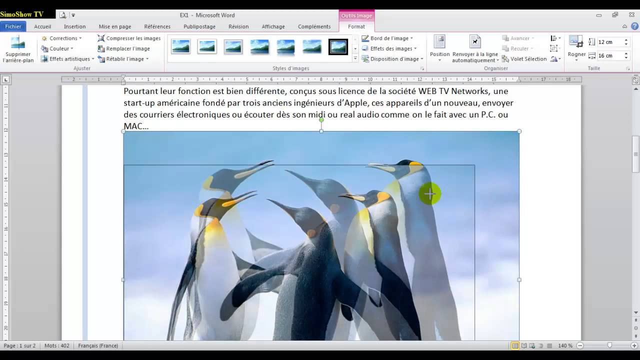 Cours et Formation microsoft Word 2010 - ateliers MOS N°1 - arabe - YouTube