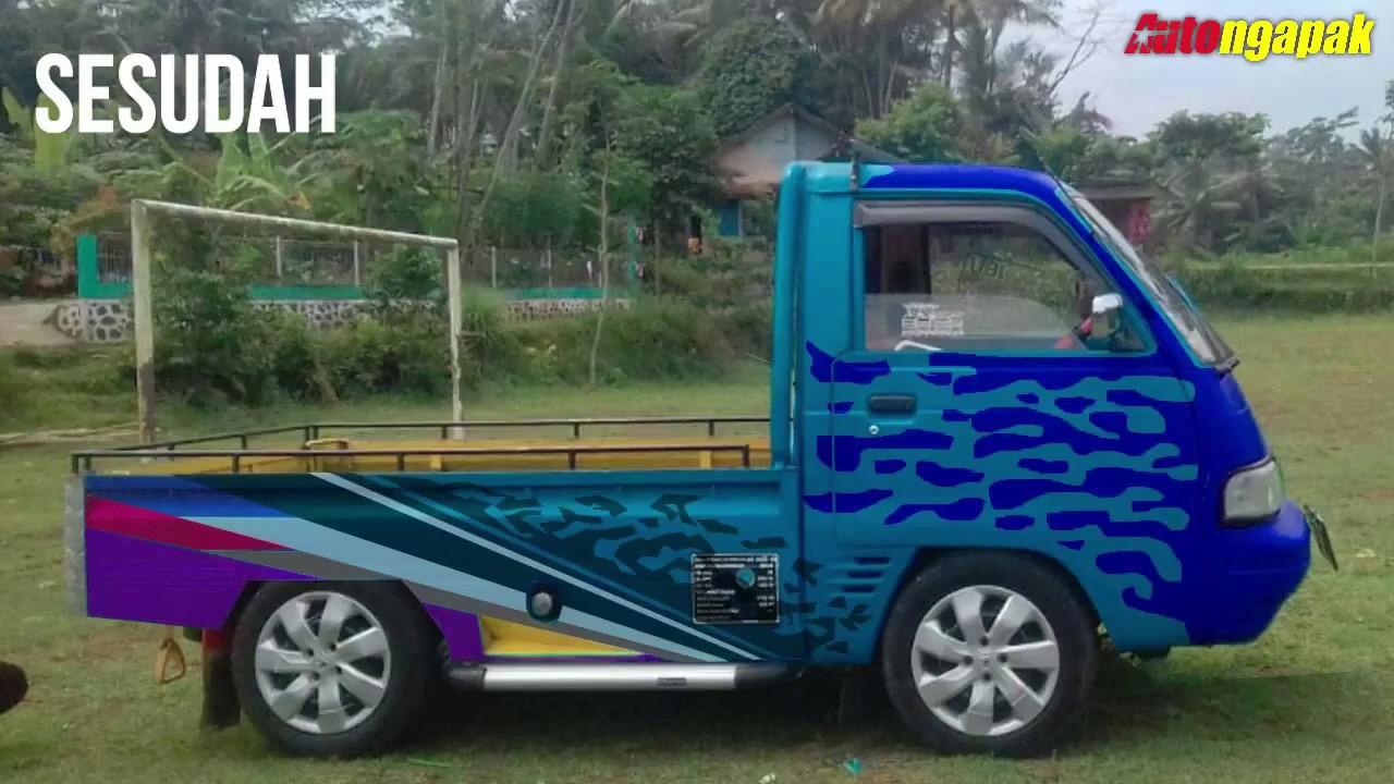 Tutorial Desain Modifikasi Suzuki Futura Pick Up Ceper