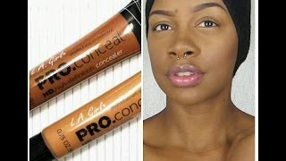 Contour and highlight using LA GIRL Pro Concealers