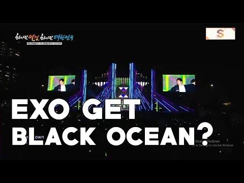Did EXO get a Black Ocean at Pyeongchang Olimpic G 100 ?