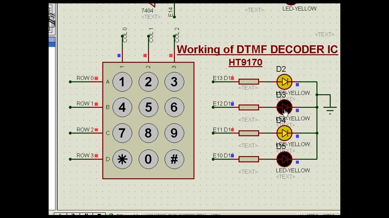 DTMF ring tone Decoder in action