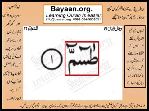 Quran in urdu Surrah 026 Ayat 001 Learn Quran translation in Urdu Easy Quran Learning