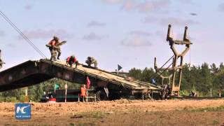 RAW: Four nations compete for best engineering unit in International Army Games 2015
