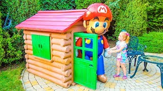 Funny Kid on the Home playground and Giant Toys Video for kids, toddlers and babies