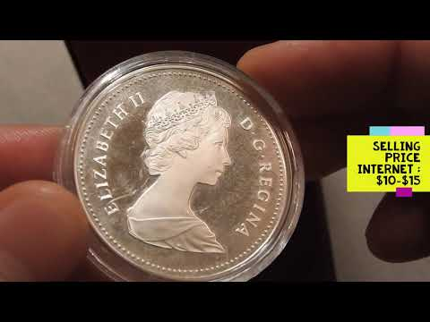 1984 Canadian Silver Dollar. How Many Minted ? What's The Value ? Silver Coin Collecting - Stacking