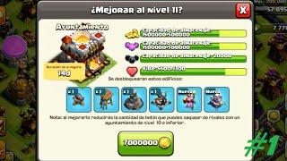 SUBIENDO AYUNTAMIENTO A NIVEL 11| Maxeando Ayuntamiento 11 #1 | CLASH OF CLANS|En Español