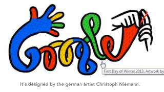 First Day of Winter 2013 Google Doodle