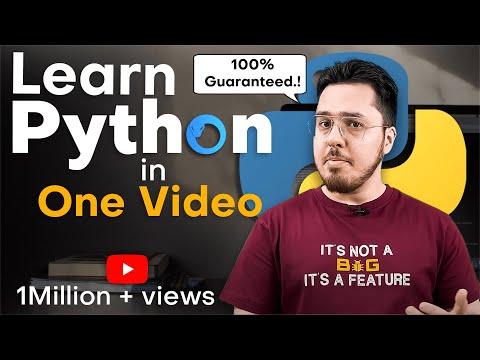 Learn Python In Hindi In One Video - हिंदी में (Latest Tutorial 2018) thumbnail