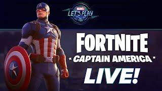 Captain America Joins FORTNITE! | Marvel Let's Play LIVE