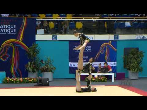 FRANCE  Women's Groups - Balance Qualifications  -- 2014 Acrobatic Worlds, Levallois-Paris (FRA)