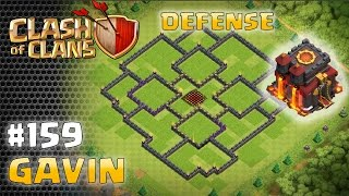 Town Hall 10 (TH10 Base) Defense Layout 159 Gavin - Clash of Clans Layouts