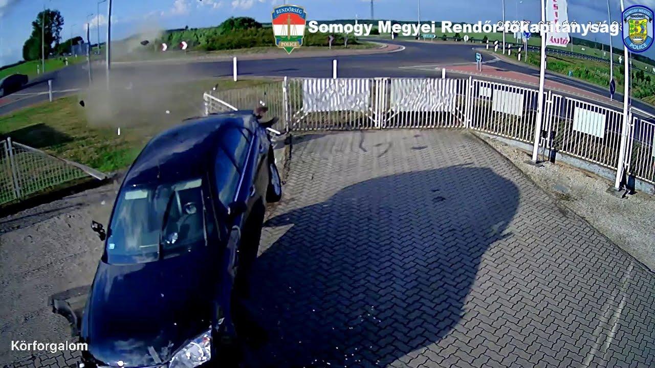 حادث تحطم سياره جديد في هنغاريا 2020