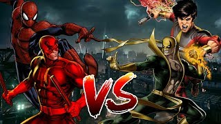 Spider Man and Daredevil VS Iron Fist and Shang Chi | BATTLE ARENA