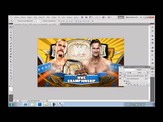 Primer Tutorial:Como Hacer Un Match Card De WWE Con Photoshop Cs5 Videos De Viajes