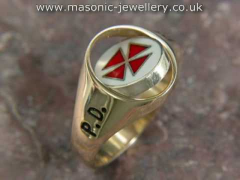 Masonic Ring - Reversible Knights Templar Gold DAJ105