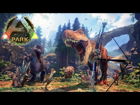 PROBANDO LA REALIDAD VIRTUAL EN ARK SURVIVAL EVOLVED 😱 ARK PARK VR