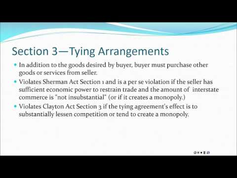 ANTITRUST--CLAYTON ACT PRESENTATION