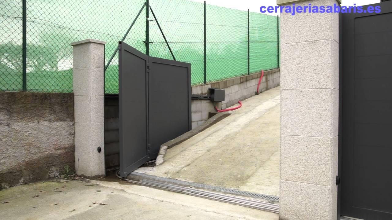 Puerta corredera curva aluminio youtube - Puertas metalicas jardin ...