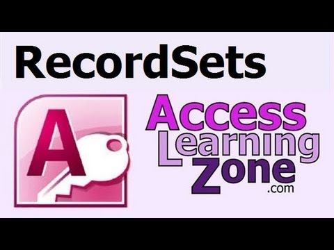 Microsoft Access Advanced Tutorial: RecordSets in VBA