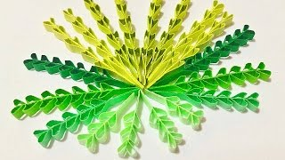 Heart shape quilling leaves tutorial