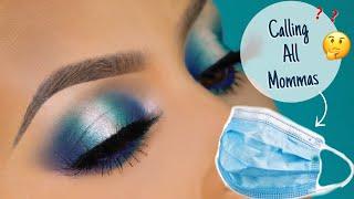 Blue halo eyeshadow tutorial l Calling all moms