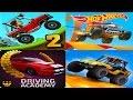 Hill Climb Racing 2 vs Hot Wheels Race Off vs Mini Racing Adventures vs Car Driving Academy 2017 3D