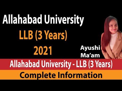 Allahabad University LLB ( 3 Years )   Application Form   Exam Date   Syllabus  