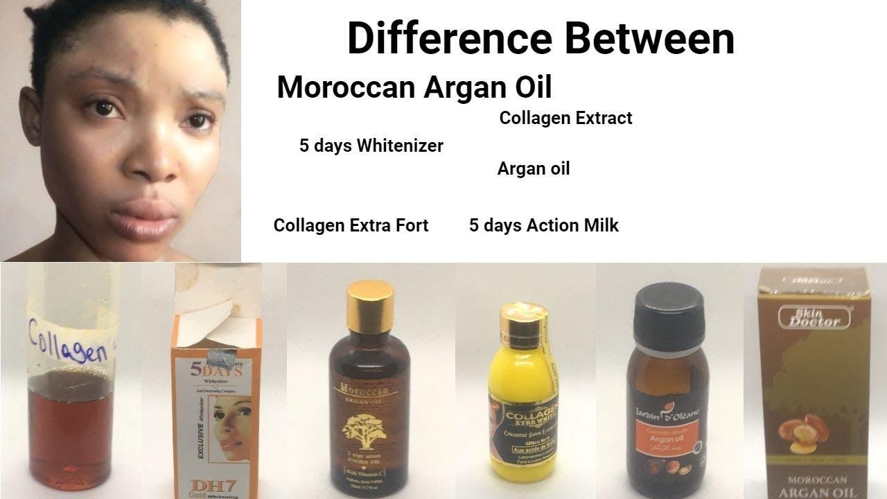 Moroccan Whitening Oil 5 Days Whitening Oil Collextract Oil Argan Oil