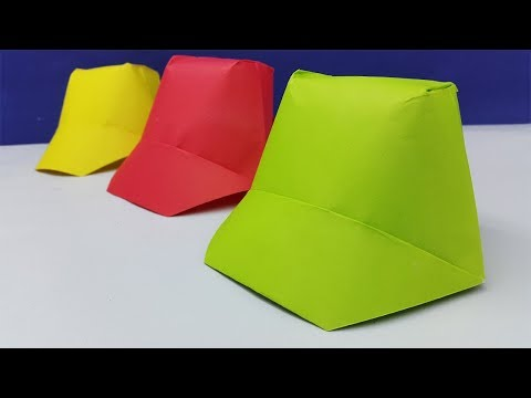 How to make paper hat | DIY Origami Hat Making Simple and Easy | paper cap instruction for kids