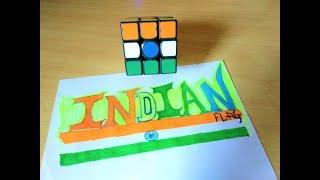 """Learn """"INDIAN FLAG"""" Pattern In Hindi   सीखें """"INDIAN FLAG"""" पैटर्न बनाना हिंदी में  """