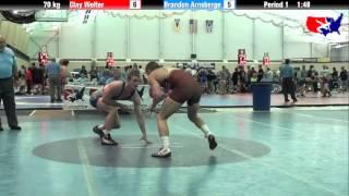 Clay Welter vs. Brandon Arnsberge at 2013 ASICS University Nationals - FS
