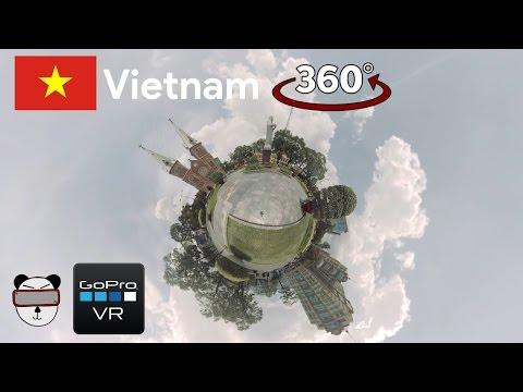 360° GoPro Omni VR: Notre Dame Cathedral Timelapse   Ho Chi Minh City, Vietnam