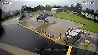 Two Police Helicopters Destroyed In Catastrophic Rotor Collision thumbnail
