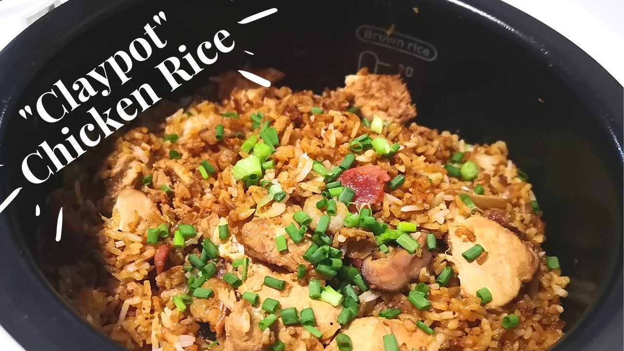 Easy To Cook Claypot Chicken Rice In A Rice Cooker Youtube