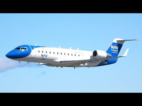 LOW PASSES! Nav Canada CRJ-200ER ILS Tests U0026 Takeoff At YYJ