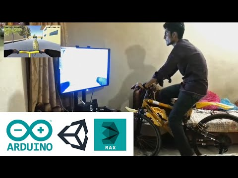 Physical Cycle PC Video Game Electronics Project (Arduino+Unity+3D Max)