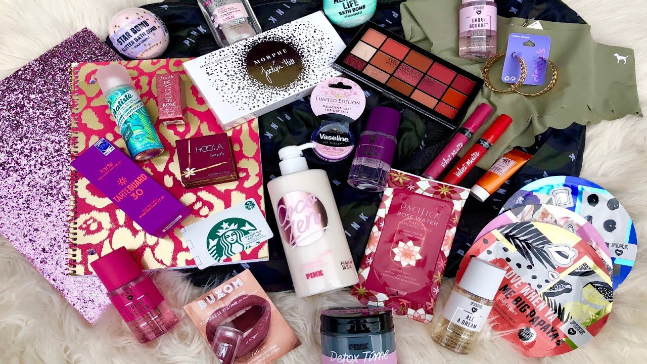 HUGE INTERNATIONAL GIVEAWAY OF VICTORIA'S SECRET PINK, MAKEUP, ACCESSORIES,  SCHOOL SUPPLIES AND MORE
