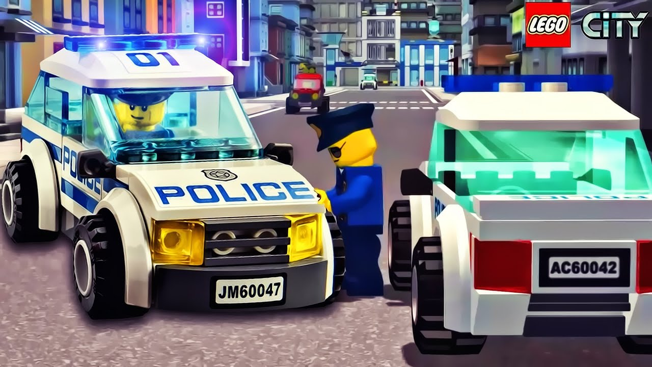 lego cartoon police car game kids play games
