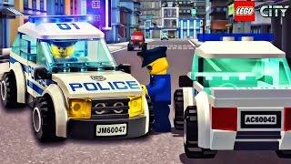 Lego Cartoon Police Car Game - Kids Play Games