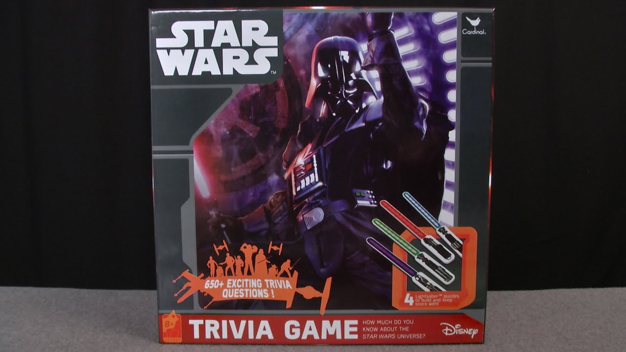 Star Wars Trivia Game from Cardinal Games   YouTube Star Wars Trivia Game from Cardinal Games