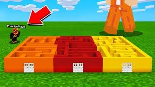 So I Built TINY MAZE For Preston In Minecraft!