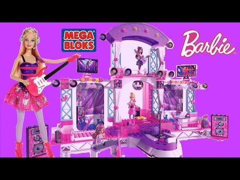 Mega Bloks Barbie Build N Play Super Star Stage with Barbie PopStar Dolls