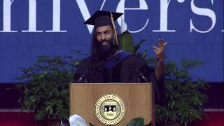 Vivekanand Vimal, PhD'17, speaks at Brandeis Commencement
